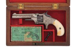 Engraved Smith & Wesson No. 1 Third Issue Revolver