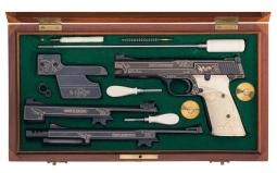John Warren Signed and Gold Inlaid Smith & Wesson Model 41