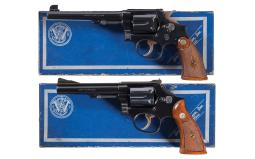Two Smith & Wesson Revolvers with Boxes