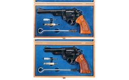 Two Smith & Wesson Double Action Revolvers w/ Cases
