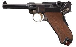 DWM 1902 Blank Chamber American Commercial Luger Pistol
