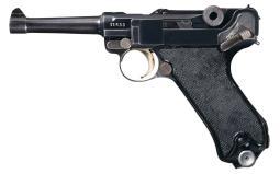 Krieghoff 1943 Luftwaffe Luger, 2x Matching Mags, Holster