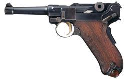 DWM 1906 Commercial Luger Pistol, w/Holster, Extra Magazine
