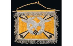 Exceptionally Rare Nazi Luftwaffe Double Sided Trumpet Banner fo