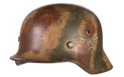 1940 Stahlhelm, Tri-Tone Camo, Luftwaffe Single Decal