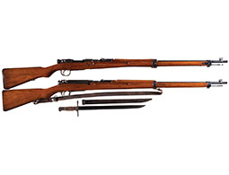 Two Japanese Nagoya Arsenal Arisaka Bolt Action Military Rifles