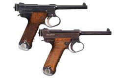 Collector's Lot of Two Japanese Semi-Automatic Military Pistols