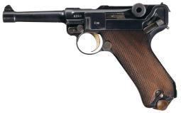 1914 Dated Erfurt Military Luger Semi-Automatic Pistol