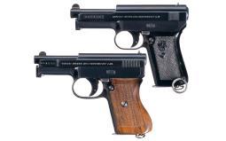 Two Mauser Semi-Automatic Pistols