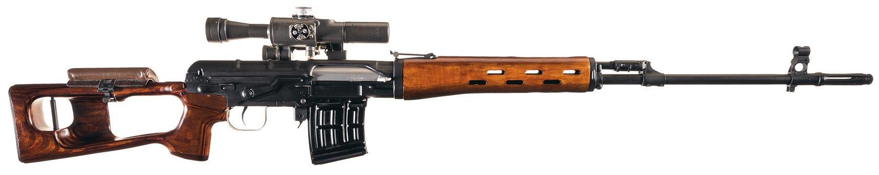 Ishevsk SVD Dragunov Infantry Sniper Rifle with Scope ...