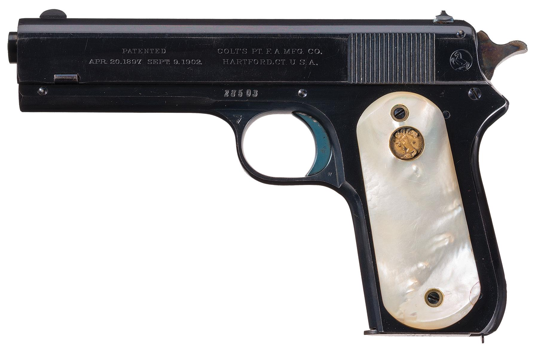 Colt - 1903 Pocket Hammer with Mother of Pearl Grips