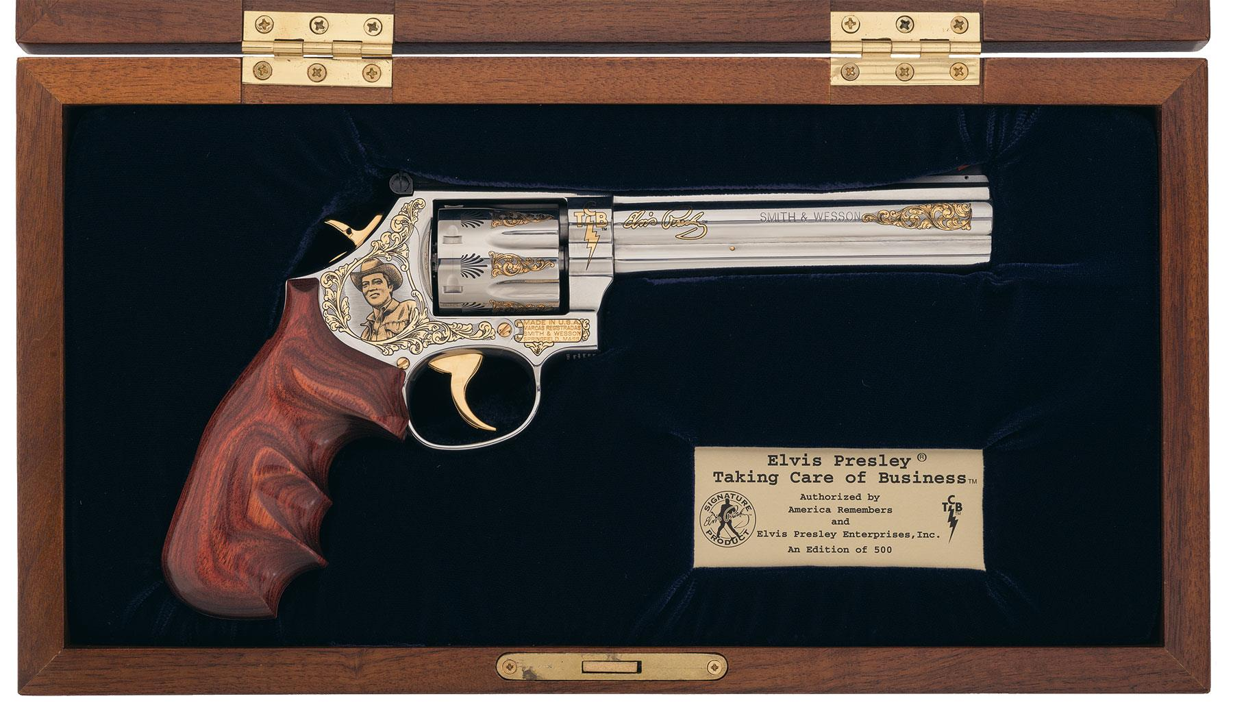 Cased Smith & Wesson Elvis Presley Taking Care Of Business