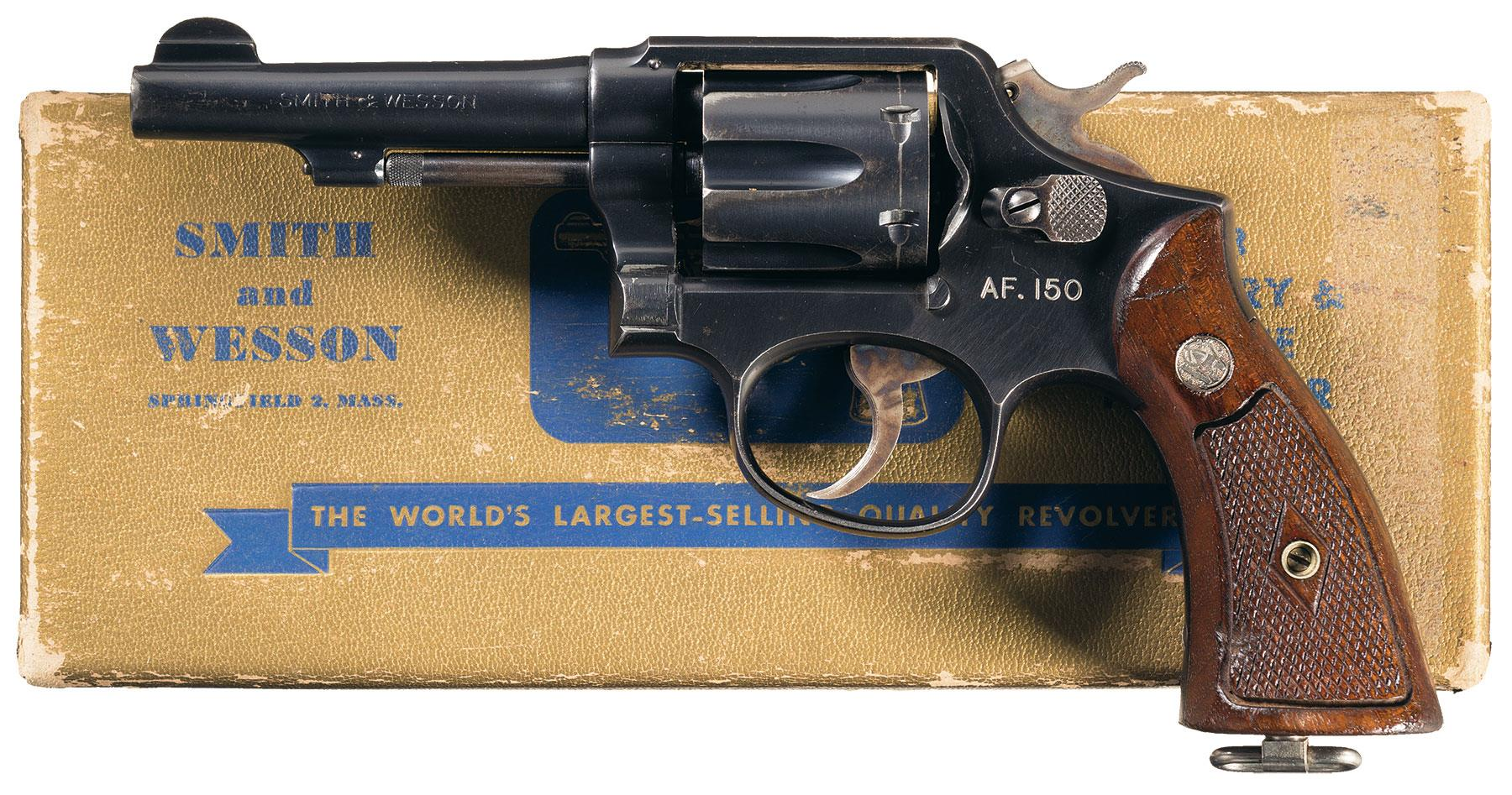 Smith wesson 38 military police revolver 38 s w special revolver firearms auction lot 3271