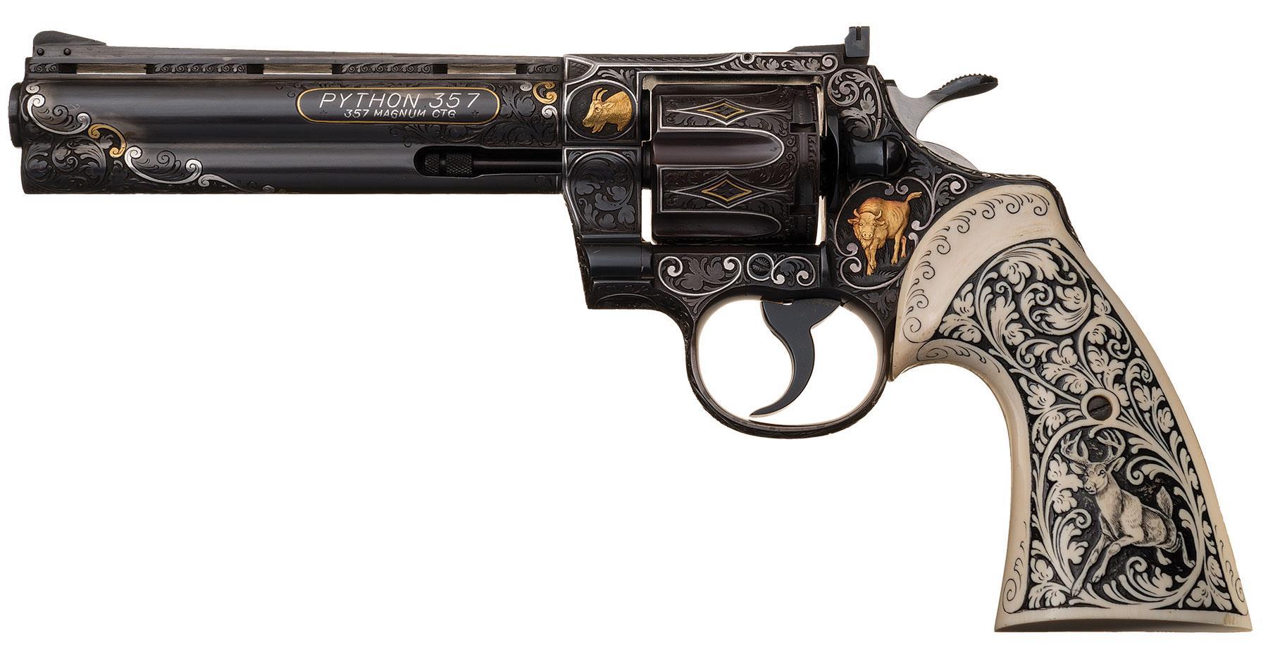 embellished colt python revolver presented by elvis presley