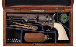 Cased Colt Model 1849 Pocket Revolver with Case