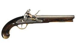 Rare U.S. North Model 1808 Navy Flintlock Martial Pistol