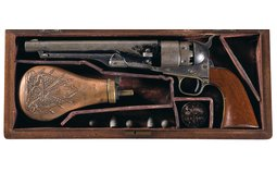 Colt Civilian Model 1860 Army Percussion Revolver with Case