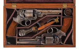 Historic Civil War Era Presentation Cased Pair of Starr Arms Co.