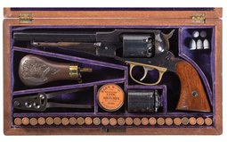 Cased Dual Cylinder Remington-Rider New Model Belt Revolver