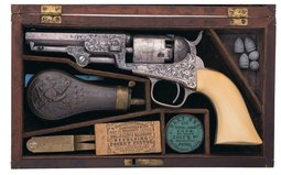 Gustave Young Factory Engraved Colt Model 1849 Pocket