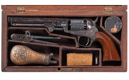 Colt Model 1849 Pocket Percussion Revolver with Case