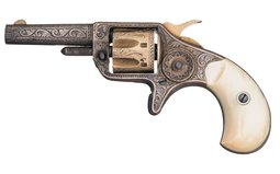 Engraved and Gold and Silver Plated Colt New Line .22 Revolver