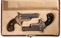 Pair of Factory Engraved Colt Third Model Derringers