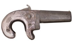 Engraved and Presentation Inscribed D. Moore No. 1 Derringer