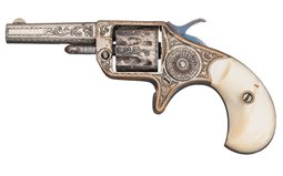 Factory Engraved Colt New Line .22 Revolver with Pearl Grips