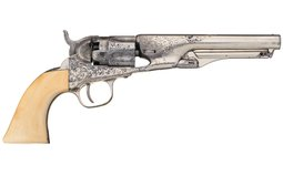 Colt Model 1862 Police Percussion Revolver Factory Engraved