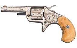 Engraved Colt New Line .22 Revolver with Rare Garter Holster
