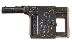 Engraved and Gold Inlaid Gaulois Palm Pistol