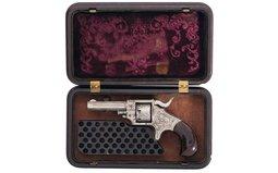 Engraved Forehand & Wadsworth .22 Side Hammer Pocket Revolver