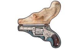 Engraved Hopkins & Allen XL No. 3 Revolver