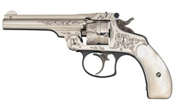 Engraved Smith & Wesson 2nd Model .32 Double Action Revolver