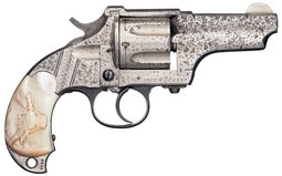 Factory Engraved Merwin Hulbert & Co. Large Frame DA Revolver