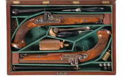 Pair of Westley Richards Percussion Pistols