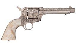 Documented Factory Helfricht Shop Engraved Colt SAA Revolver