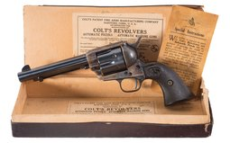 Colt Single Action Army Revolver Near New Pre-War