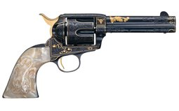 Engraved Gold Inlaid 1st Gen Colt Single Action Army Revolver