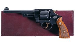 S&W .44 Hand Ejector 3rd Model Transitional Revolver with Box