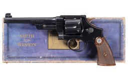 S&W .38/44 Outdoorsman (Prewar) Double Action Target Revolver
