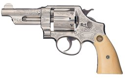 Factory Engraved S&W Triple Lock DA Revolver with Factory Letter