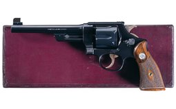 S&W .44 Hand Ejector 3rd Model DA Revolver with Factory Letter