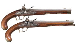 Ornate Pair of Germanic Flintlock Horse Pistols