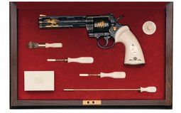 Colt Python Revolver Howard Dove Signed Exhibition Quality
