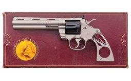 Colt Prototype Electroless Nickel Colt Python Factory Letter-Box