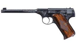 Colt Pre-Woodsman Semi-Automatic Pistol-Factory Letter Engraved
