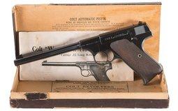 Pre-War Colt First Series Woodsman Target Model Pistol with Box