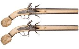 Wender System Flintlock Pistols